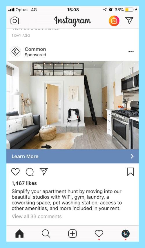 فرمت کمپین تبلیغاتی اینستاگرام