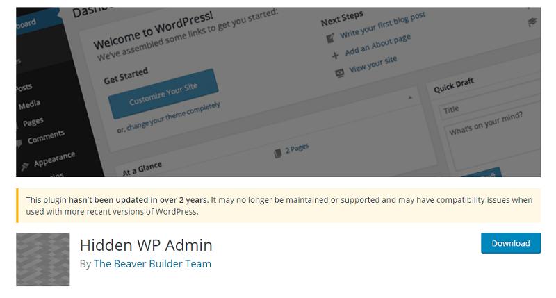 افزونه Hidden WP Admin