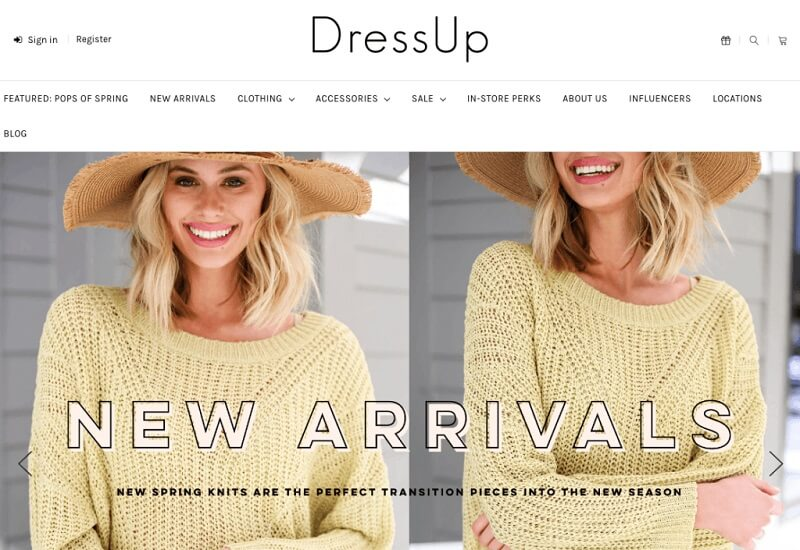 فروشگاه اینترنتی درِس آپ (Dress Up)