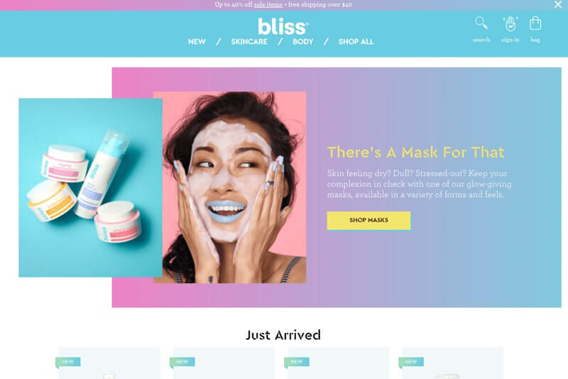 فروشگاه اینترنتی بلیس (Bliss)