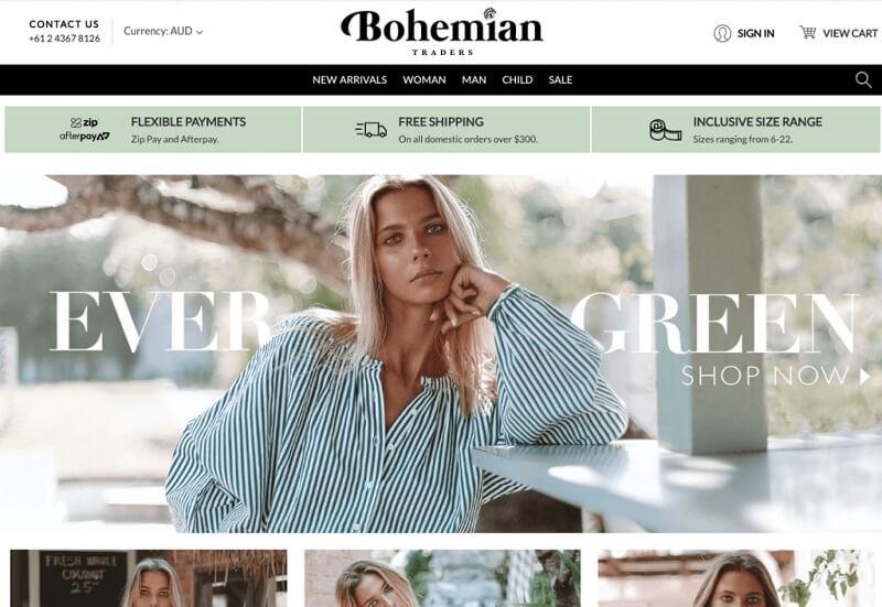 فروشگاه اینترنتی بوهِمین ترِیدِرز (Bohemian Traders)