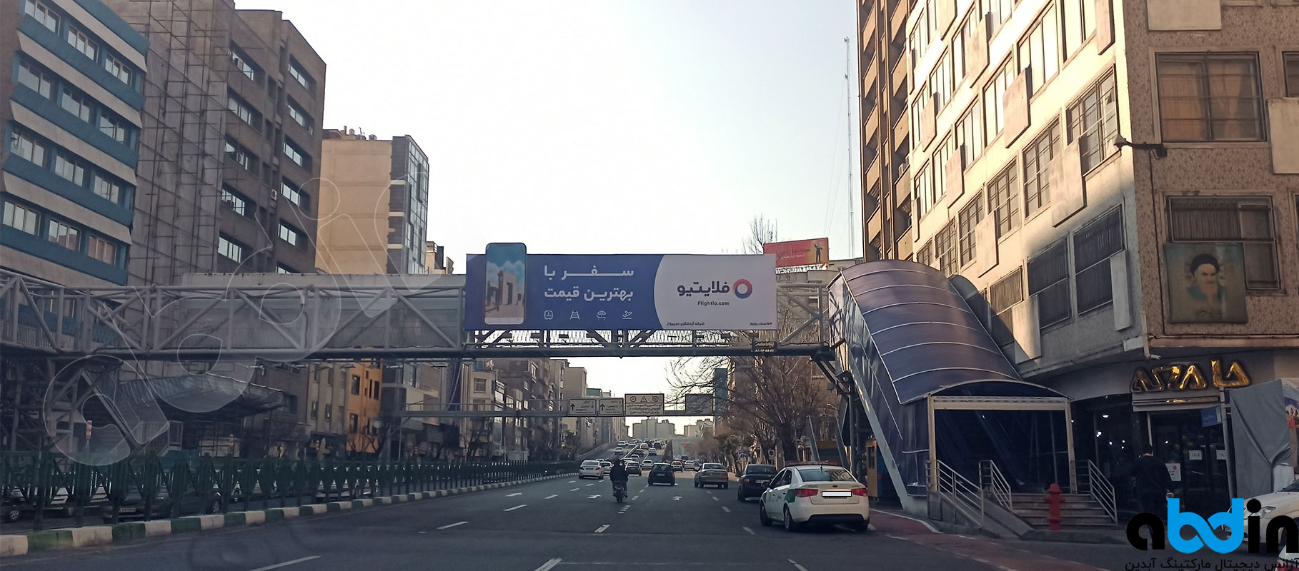 بیلبورد خیابان کریمخان غرب از سمت هفت تیر قبل از روی گذر