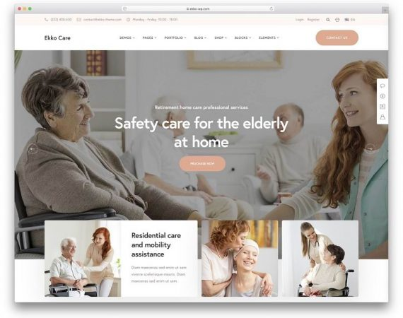 Sanatorium Elderly WEBSITE design wordpress