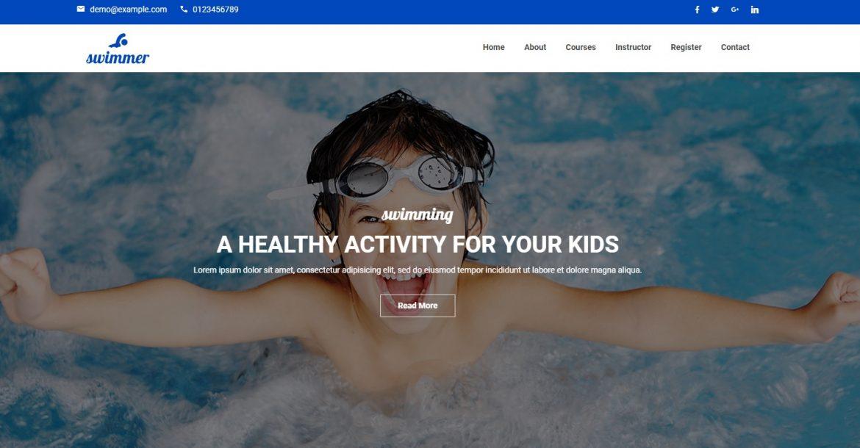 طراحی سایت استخر با آبدین